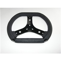 Steering wheel KG FASTER with MS KART logo - plastic / steel - D 300 mm
