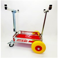 Kart transporter - with logo MS - polyurethane wheels