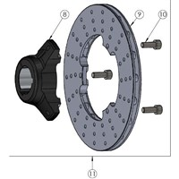 Rear brake disc - complete - D 25 mm - MINI